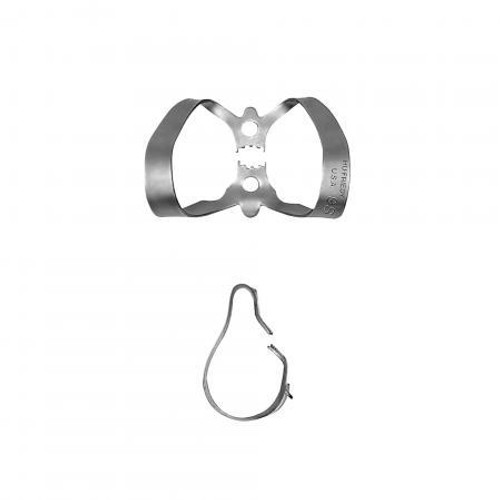 W12A Satin Steel Rubber Dam Clamp
