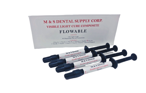 AllSmiles Flowable Light Cure Composite A3 4X2Gm Syringes W/Tips