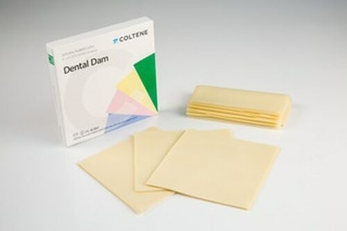 "Hygenic Ready Cut Rubber Dam Thin Light 5"" X 5"" Bx 52"