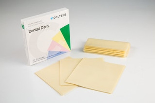 "Hygenic Ready Cut Rubber Dam Medium Light 6"" X 6"" Bx 36"