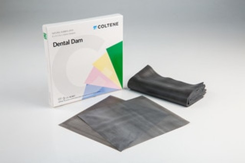 "Hygenic Ready Cutrubber  Dam X-Heavy Dark 6"" X 6"" Bx 36"