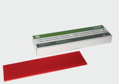 Hygenic Utility Wax Round Strips Bx80 3/16 X 11 Red