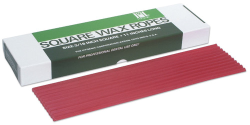 "Hygenic Square Wax Ropes 3/16""X11"" Red"