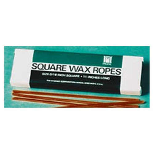 "Hygenic Square Wax Ropes 3/16""X11"" White"
