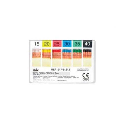 Hygenic Gutta Percha 120/Pk Aae/Iso Spec.(Standard)Asst#15 -