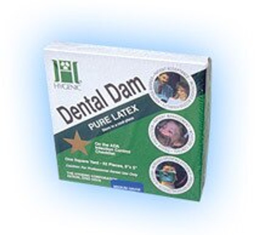 Hygenic Rubber  Dam   5 X 5 Medium Green Conv.Pack-Bx 364