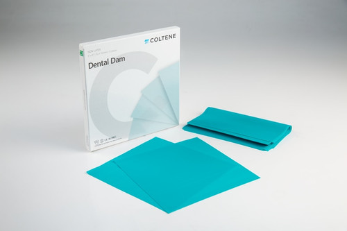 "Hygenic Non-Latex Dental Dam 6""X6"" Medium Teal 15/Box"