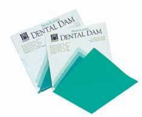 "Hygenic Non-Latex Dental Dam 6""X6"" Medium Teal 75/Box"