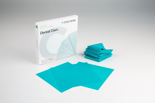 "Hygenic Non-Latex Dental Dam 5""X5"" Medium Teal 15/Box"