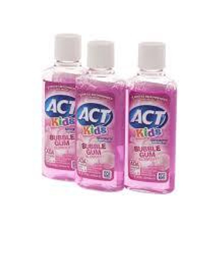 J&J Act Floride Rinse 18Oz Case /12   Bubble Gum
