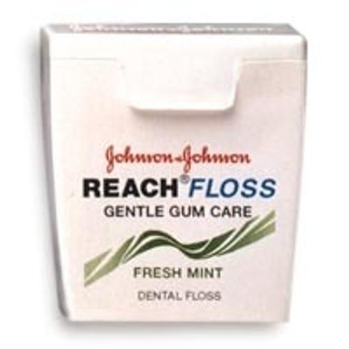 J&J Reach Gentle Gum Woven Floss Mint W/ Floride 5 Yd 144Pk