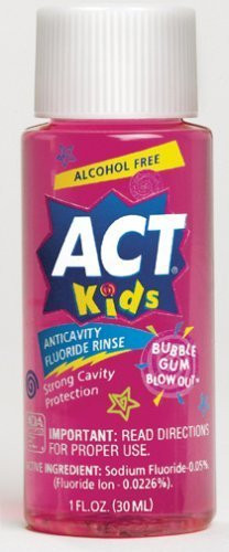 J&J Act Floride Rinse 1Oz Case /48  Bubble Gum