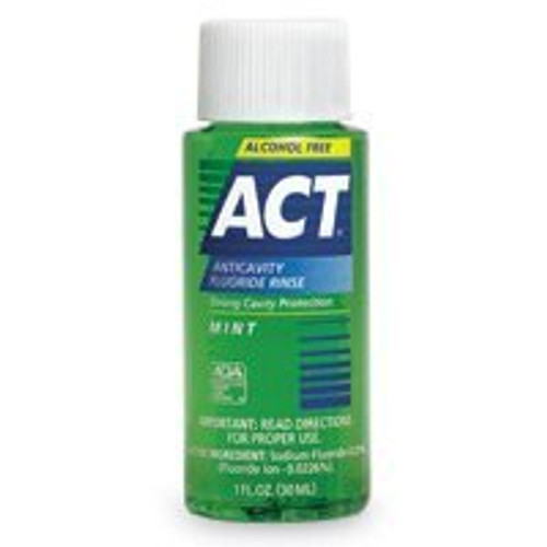 J&J Act Floride Rinse 1Oz Case /48 Mint