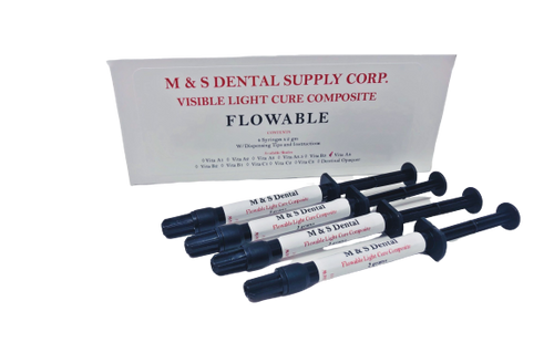 AllSmiles Flowable Light Cure Composite A4 4X2Gm Syringes W/Tips