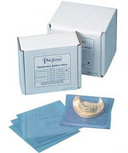 "Proform .030"" Retainer Material.Stiff, Clear. 5"" X 5"" Sheets"