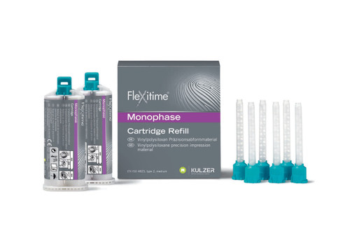 Flexitime Monophase - 12X 50mL Cartidges W/ Mixing Tips Bulk