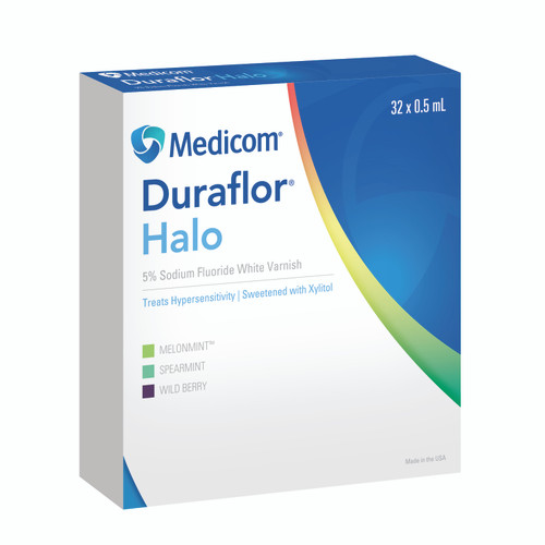 Duraflor Halo 5% Sodium Fluoride Varnish Spearmint 250Pk