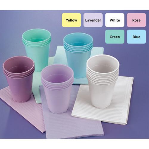 Medicom 5Oz Plastic Cups Peach 1000