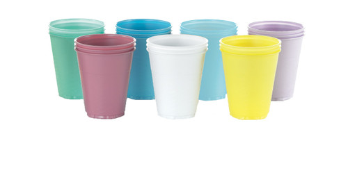 Medicom 5Oz Plastic Cups Yellow 1000