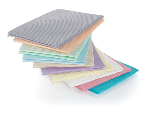 Medicom Plastic Back 2 Ply Towel Beige 500Pk