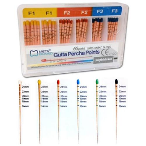 Gutta Percha Points Asst 15-40 C.C. 120 Points Sliding Box