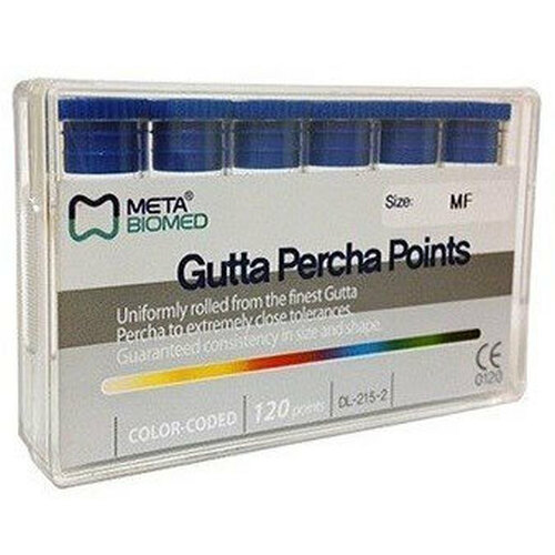 Gutta Percha Points #35 Color Coded 120 Points Sliding