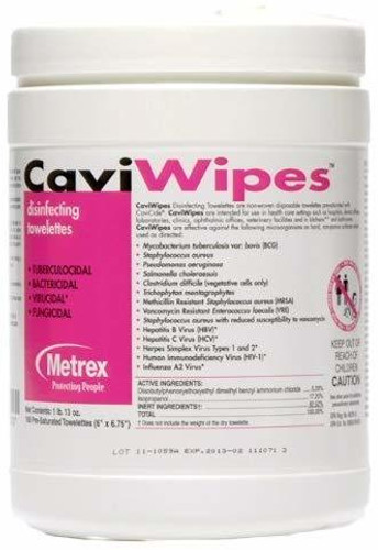 CaviWipes Towelettes Surface Disinfectant 160/Canister