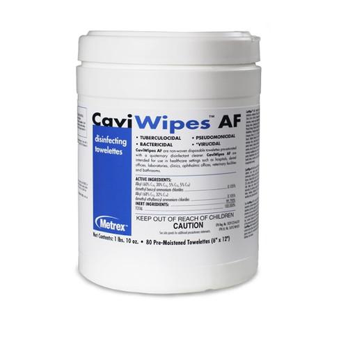 CaviWipes AF Surface Disinfectant Regular 6 x12 80/Canister