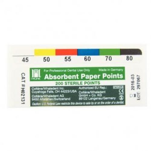 Absorbent Paper Points Asst #45-80 C.C. 200/Sliding Box