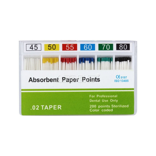 Absorbent Paper Points #10 Color Coded 200/Sliding Box