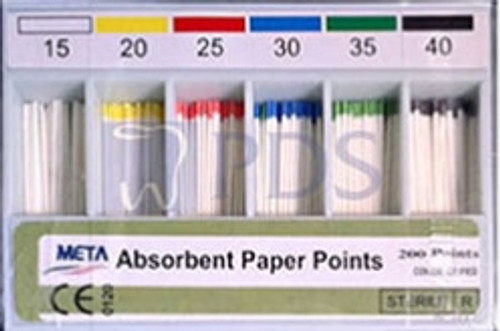Absorbent Paper Points #55 Color Coded 200/Sliding Box