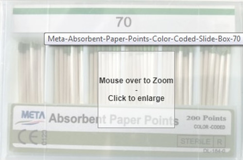 Absorbent Paper Points #70 Color Coded 200/Sliding Box
