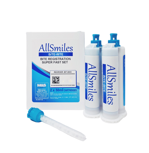 AllSmiles Bite Registration Material - Super FS Unflavored 2X50mL 6Tips