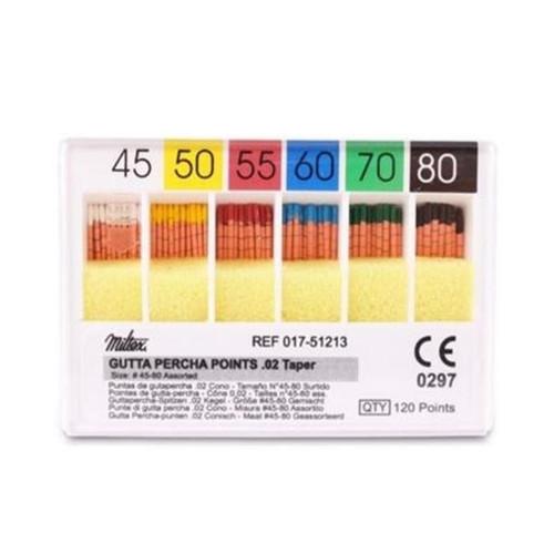 M&S Gutta Percha Points #50 Cc mm 6 Vials/Bx