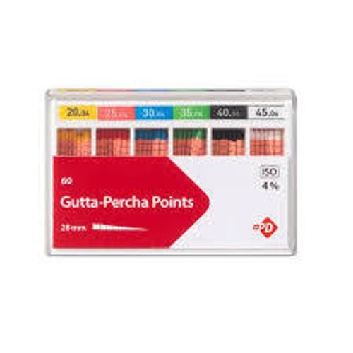 M&S Gutta Percha Points #50 .06 Taper Cc Lm 6 Vials/Bx