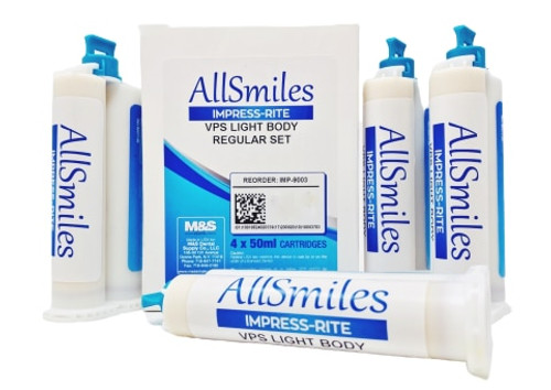 AllSmiles  VPS Material Light Body Reg Set 4X50mL