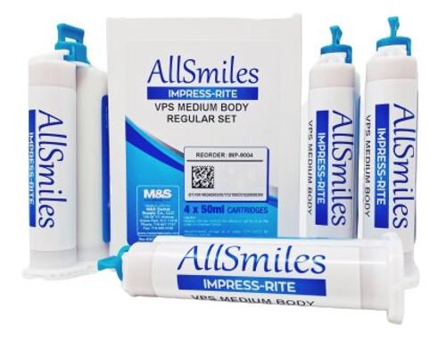 AllSmiles VPS Material Medium Body Reg Set 4X50mL