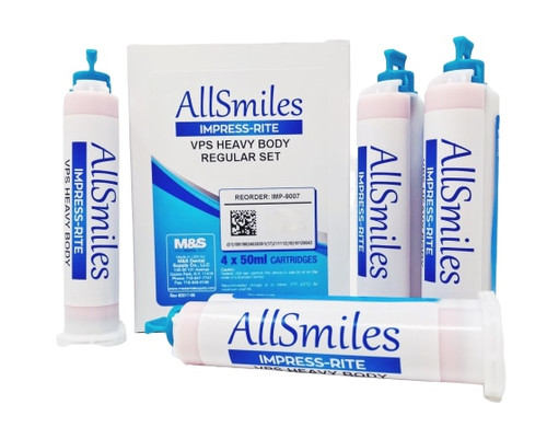 AllSmiles VPS Material Heavy Body Reg Set 4X50mL