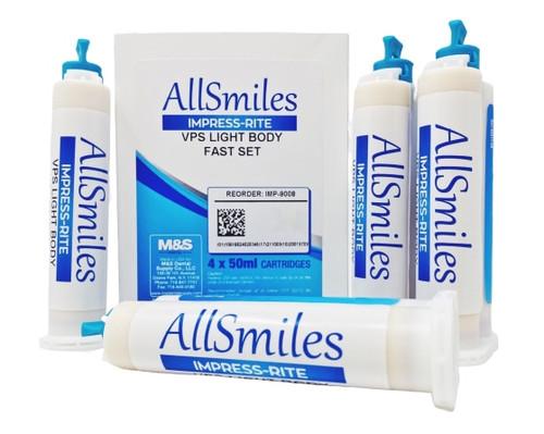 AllSmiles VPS Material Light Body Fast Set 4X50mL