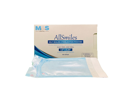 AllSmiles Sterilization Pouches 3.5x5.25 - 200/Box