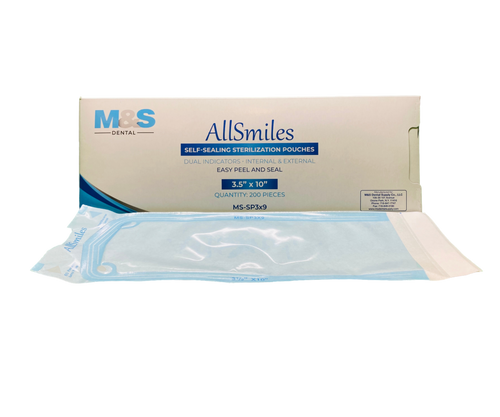 AllSmiles Sterilization Pouches 3.5x10 - 200/Box