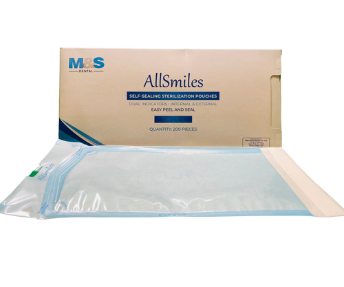 AllSmiles Sterilization Pouches 7.5x13 - 200/Box