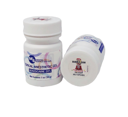 AllSmiles Topical Anesthetic Gel Bubble Gum 1oz Jar