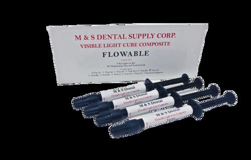 AllSmiles Flowable Light Cure Composite C4 4X2Gm Syringes W/Tips