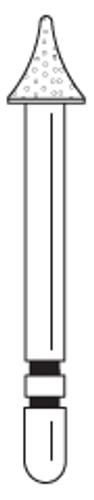 Two-Striper Diamond FG 5/Pk 204.3.5F Occlusal Contour