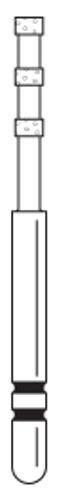 Two-Striper Diamond FG 5/Pk Dc 0.3 Depth Markers