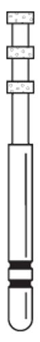 Two-Striper Diamond FG 5/Pk Dc 0.5 Depth