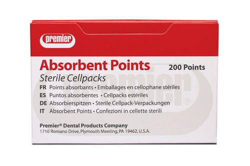 Premier Absorbent Points Sterile 200/Pk Assorted