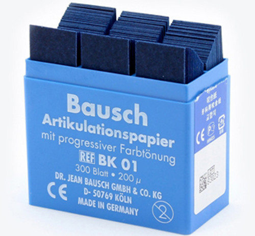 Bausch Articulating Paper No-Smudge- w/Plastic Dispenser - Blue