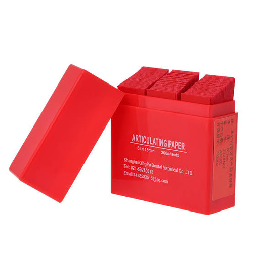 Articulating Paper - Full Mouth Sheets - Red